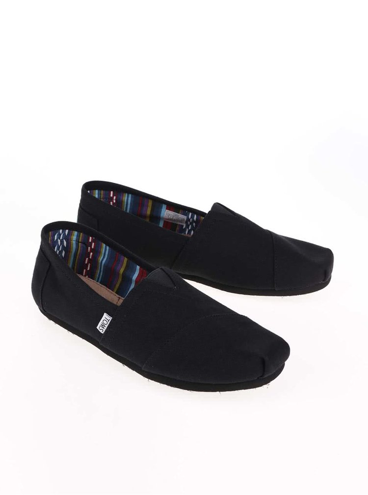 Černé pánské loafers TOMS Clasic
