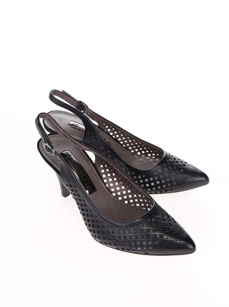 Pantofi Tamaris negri din piele