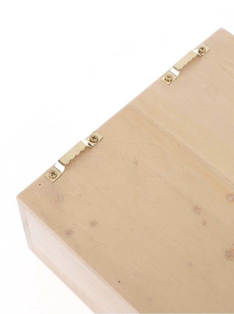 Cutie de capace cu deschizător Helio Ferretti din lemn