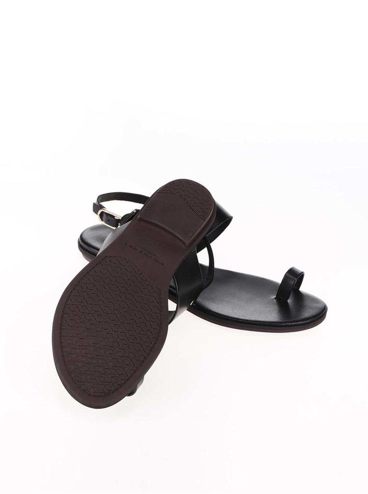 Černé kožené sandály Vagabond Natalia