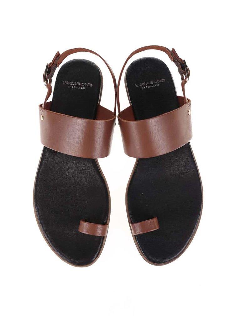 Hnedé kožené sandále Vagabond Natalia