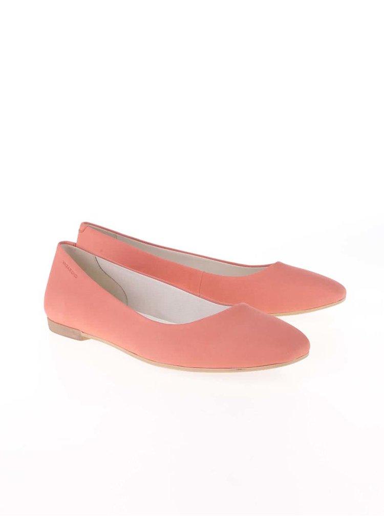 Ružové kožené balerínky Vagabond Ayden