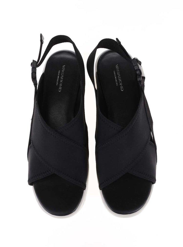 Čierne sandále na platforme Vagabond Daria