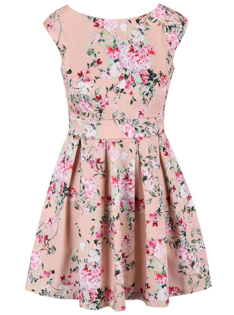 Ružové kvetované šaty Closet