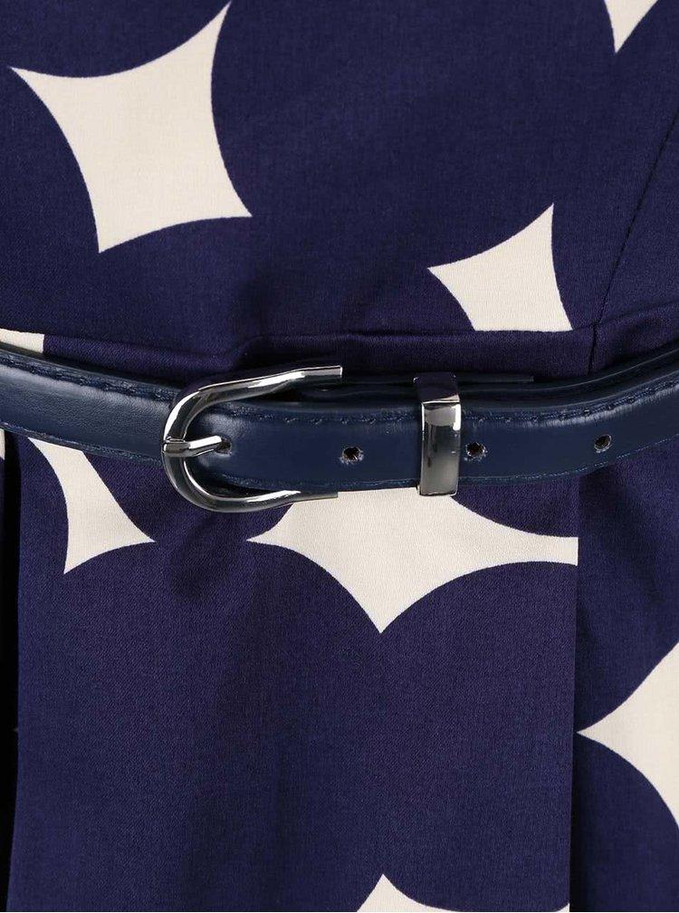 Rochie albastra Closet cu model geometric crem