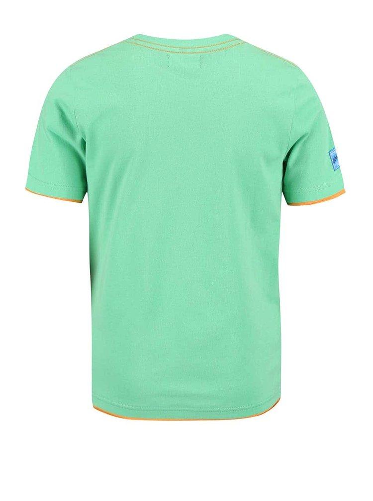 Tricou Bóboli pentru băieți verde cu model