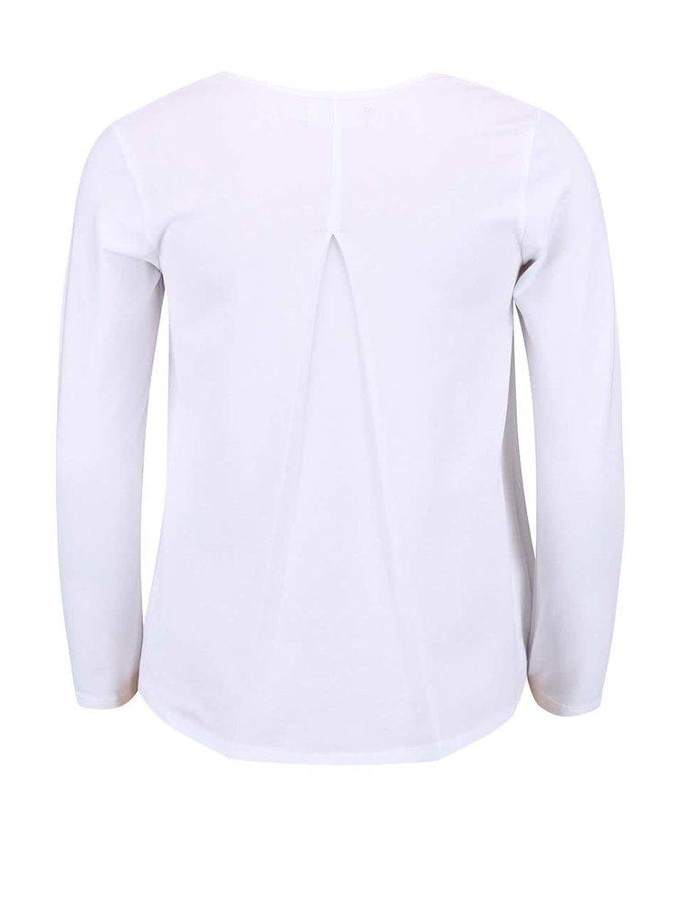 Biele dievčenské tričko s dlhým rukávom Bóboli