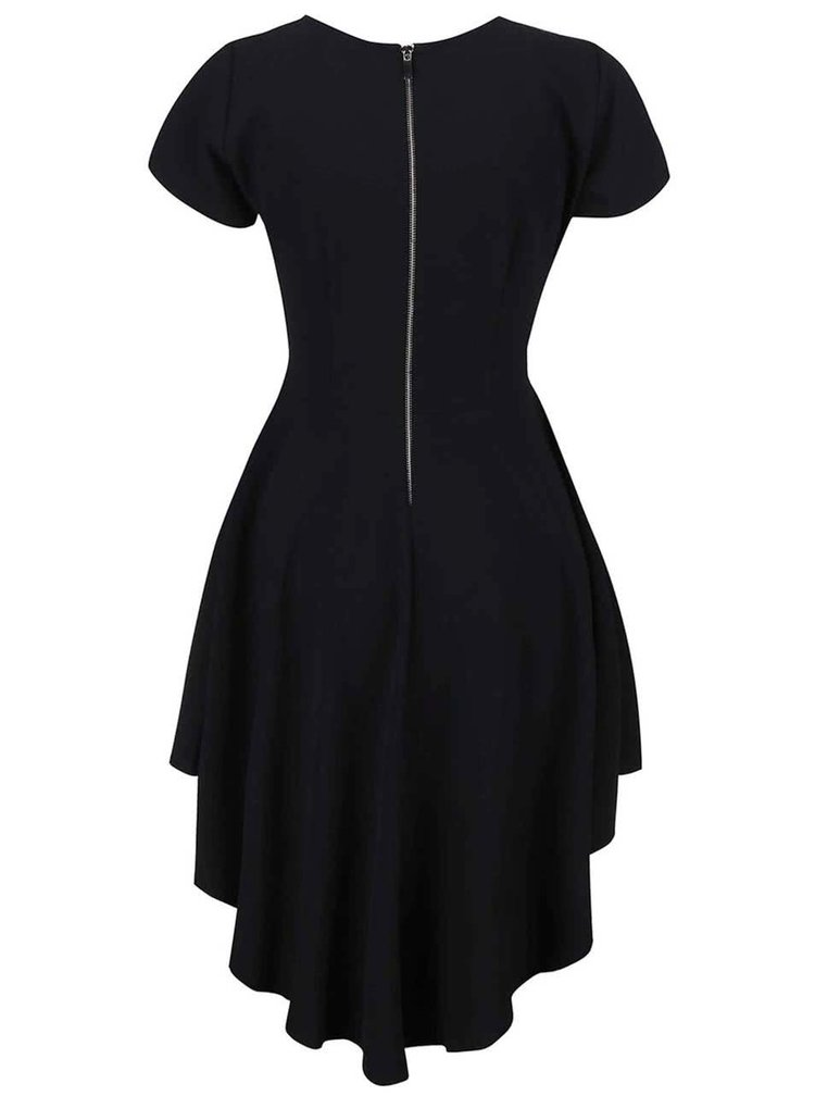 Černé šaty s dlouhým zadním dílem Alchymi Polaris