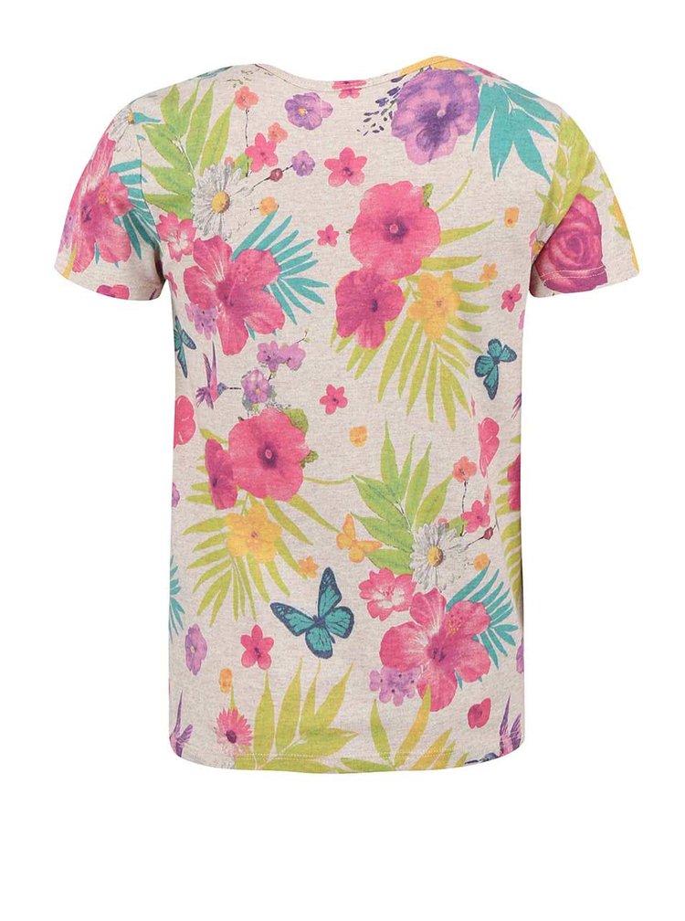 Tricou cu model floral Bóboli pentru fete