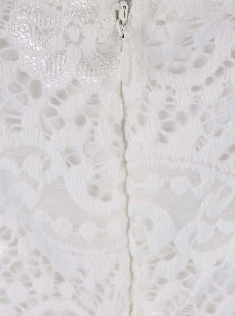 Bílé krajkované šaty VERO MODA Celeb
