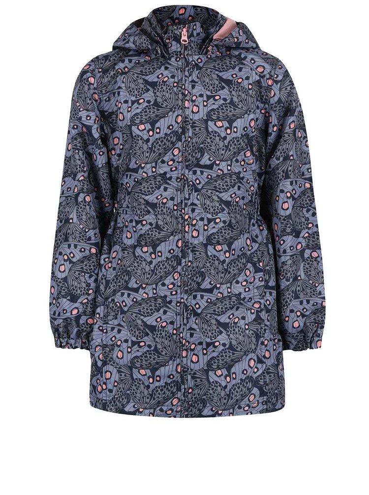 Sivo-modrá dievčenská bunda s kapucňou name it Mello