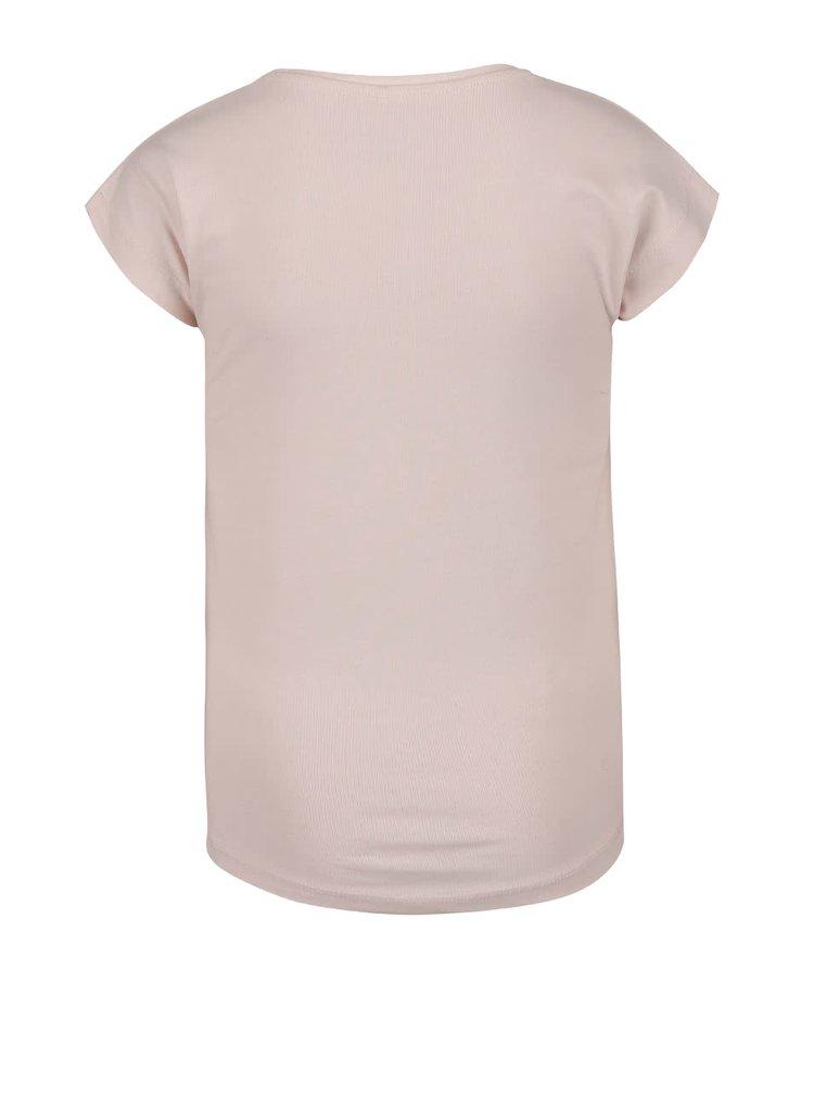 Světle růžové holčičí tričko s potiskem name it Thalico