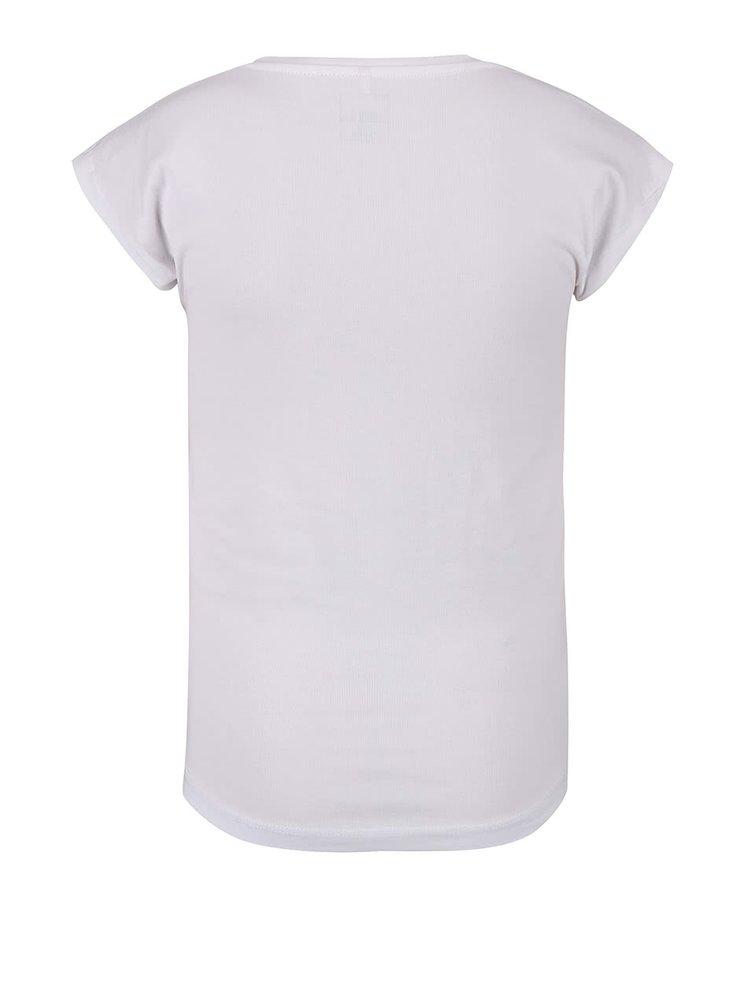 Bílé holčičí tričko s potiskem name it Thalico