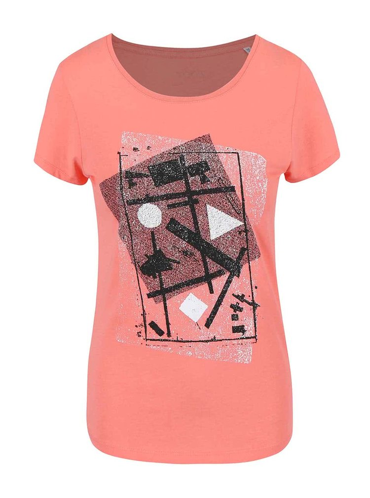 Růžové dámské tričko ZOOT Originál Suprematismus