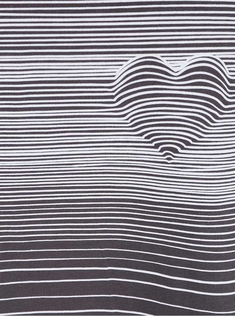Tricou gri oversized cu print pentru femei  ZOOT Original Heart Line