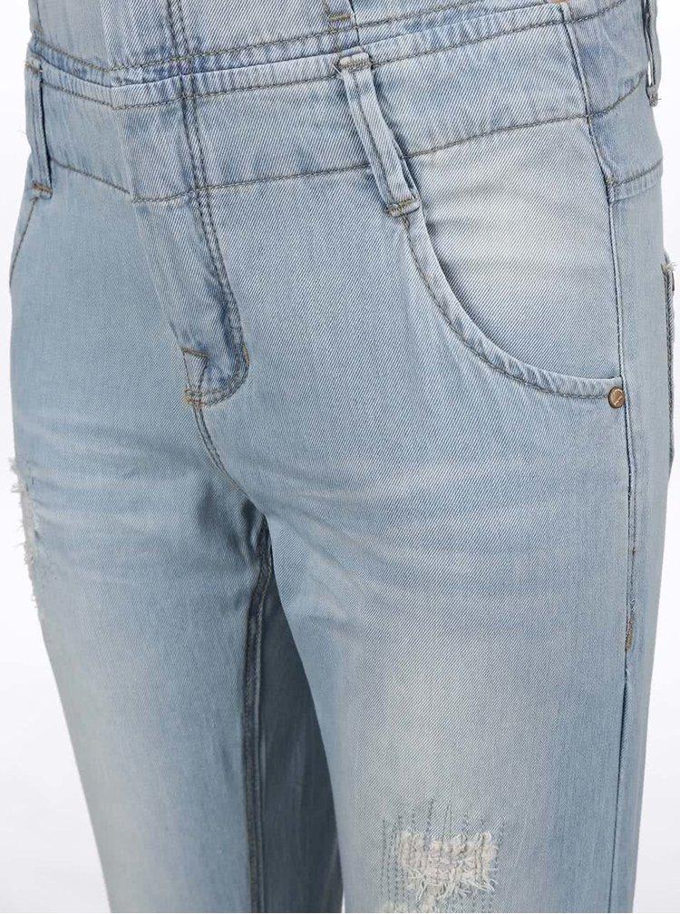 Modré dievčenské nohavice na traky name it Solely