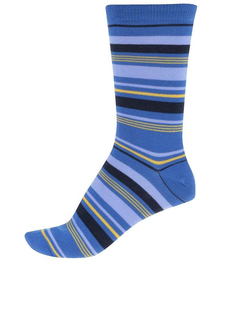 Modré pánské pruhované bambusové ponožky Braintree Elliot