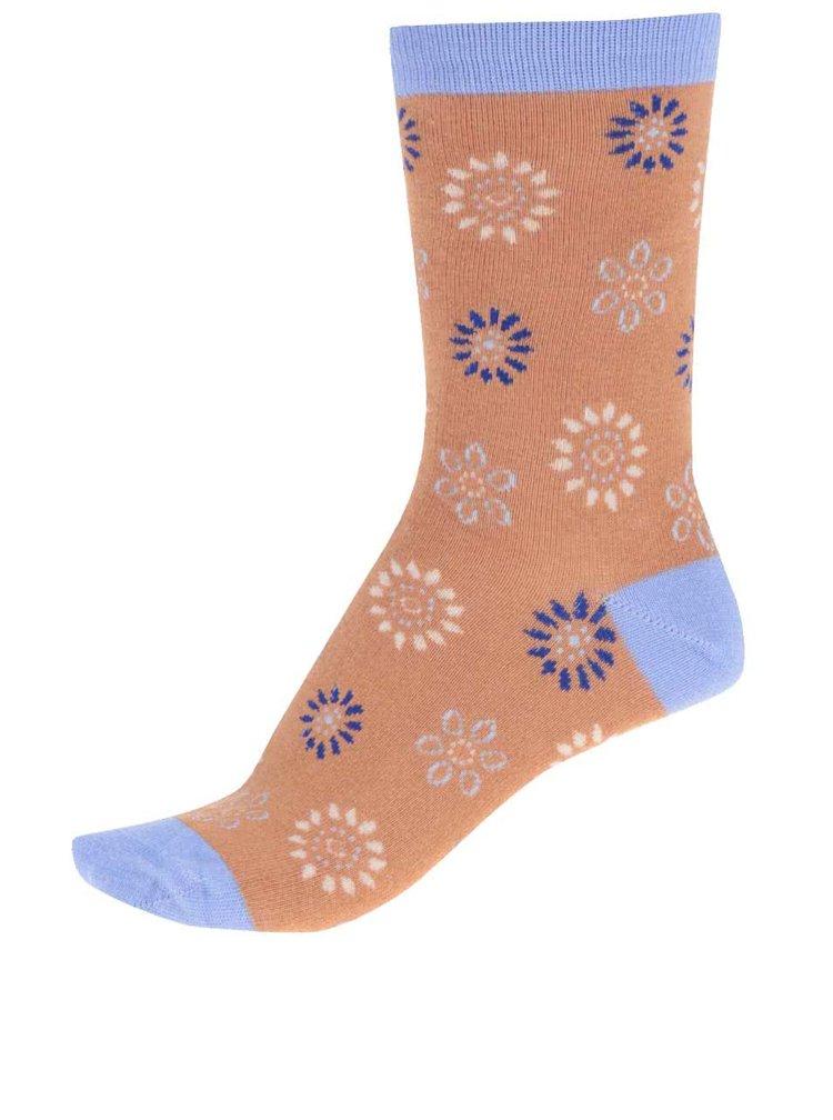 Marhuľové dámske bambusové ponožky Braintree Daisy Dot