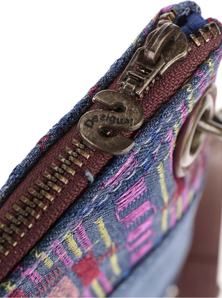 Rifľová kabelka cez rameno Desigual Bandolera African Art