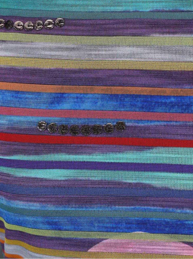 Rochie Desigual Ultra colorată cu dungi