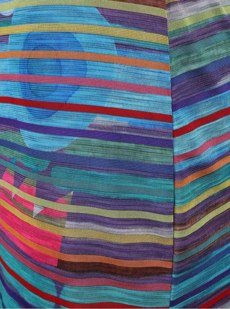 Barevné proužkované šaty laděné do modra Desigual Ultra
