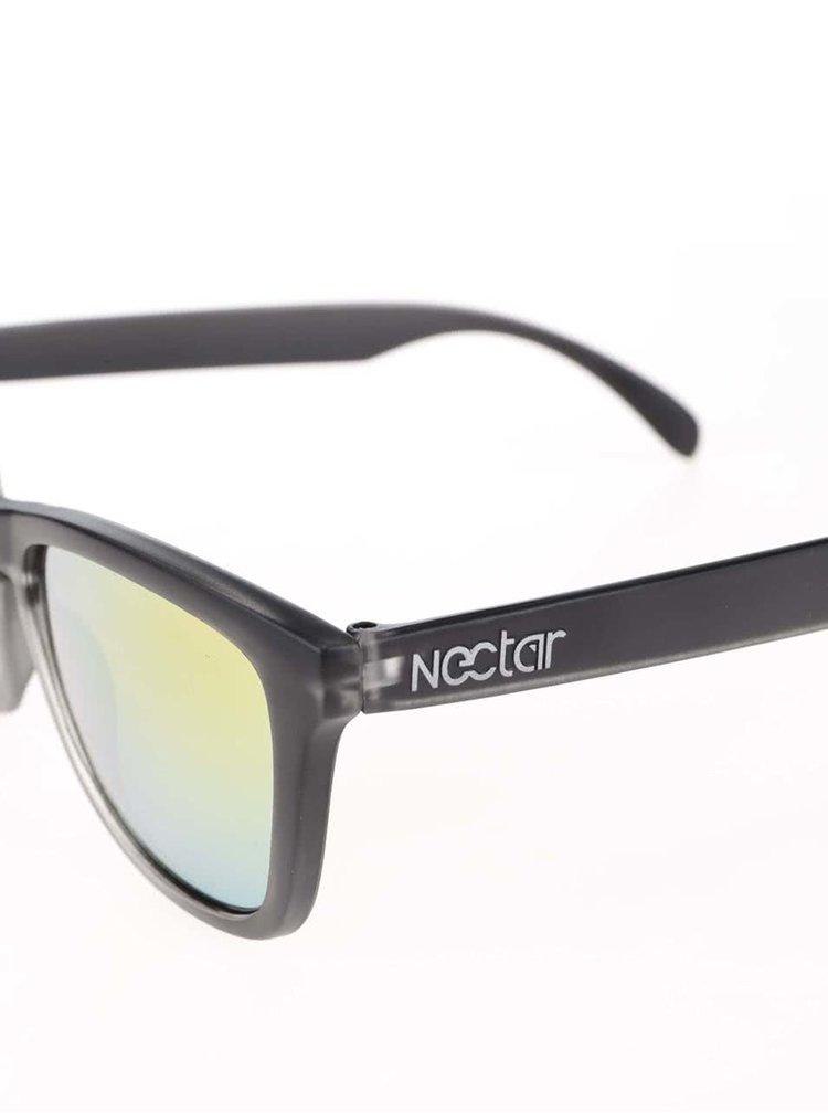 Čierne unisex slnečné okuliare s modrooranžovými sklami Nectar Pompeii