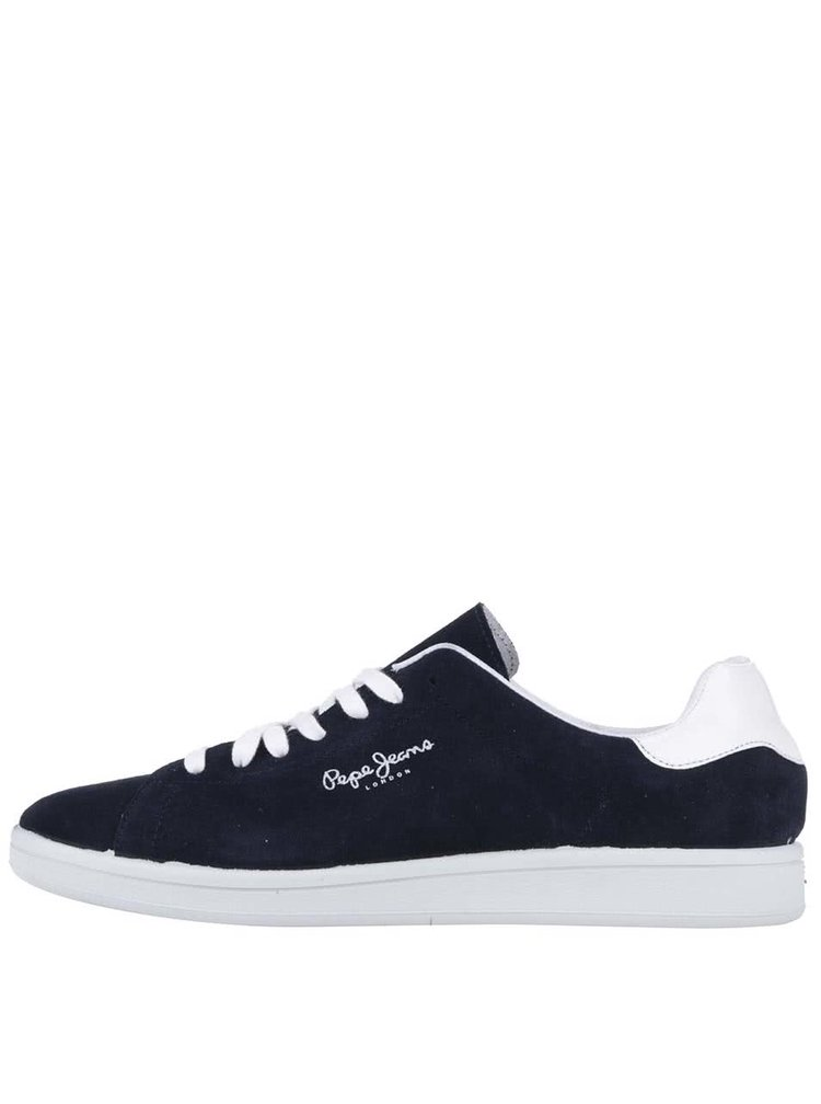 Tmavě modré pánské kožené tenisky Pepe Jeans Kentucky