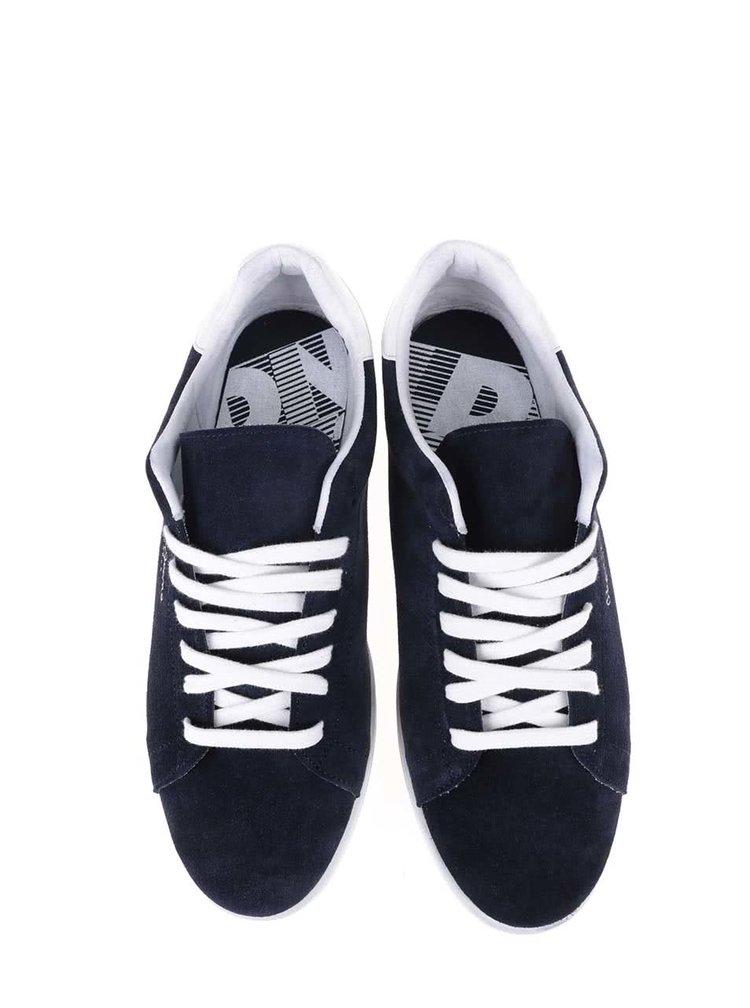Tmavomodré pánske kožené tenisky Pepe Jeans Kentucky
