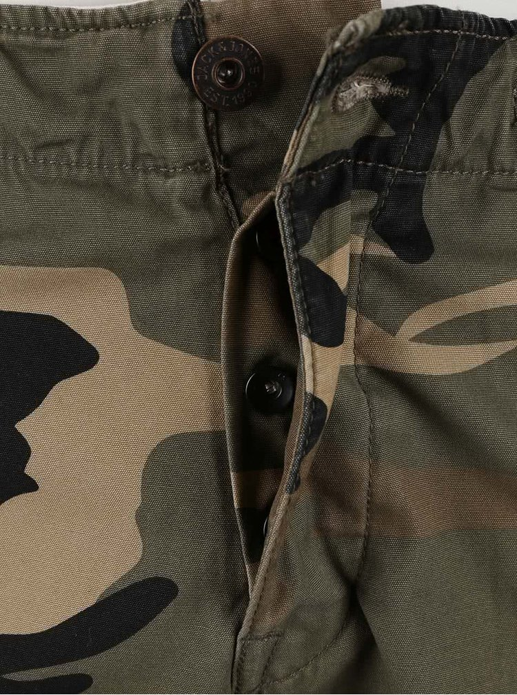 Maskáčové kraťasy s vreckami Jack & Jones Gary