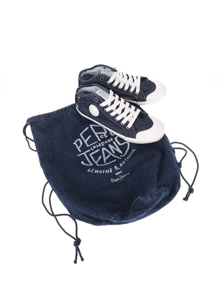 Teniși Pepe Jeans Industry Denim albaștri