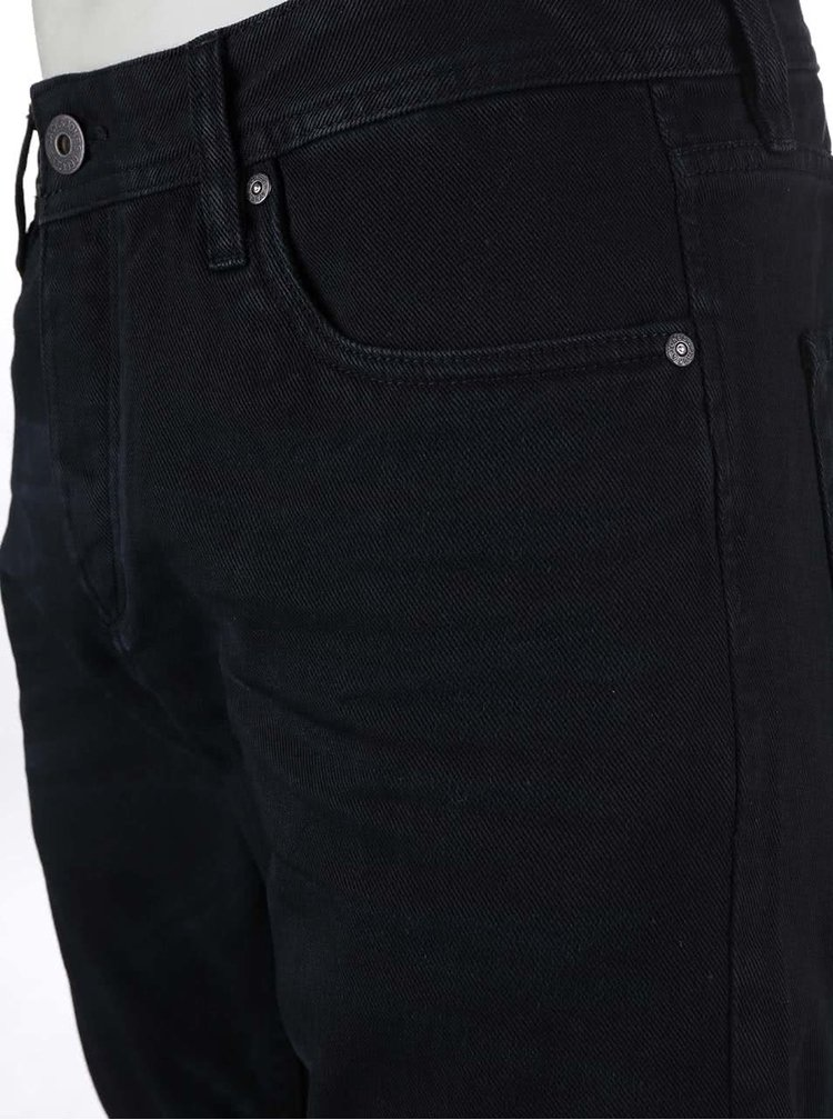 Černé džínové kraťasy Jack & Jones Rick