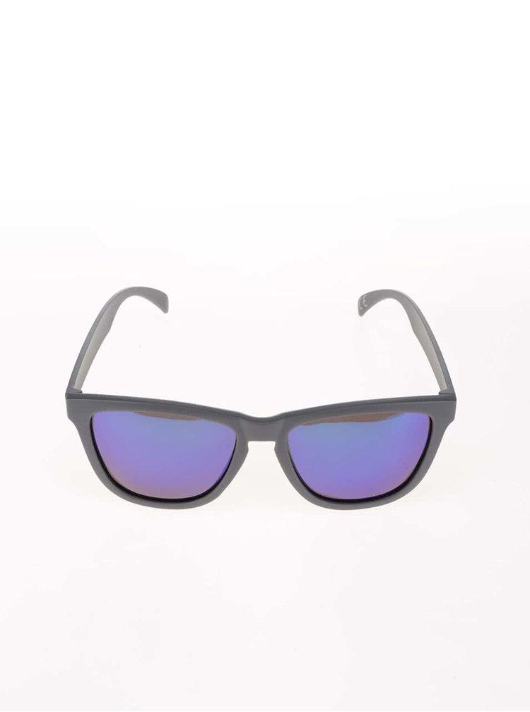 Šedé unisex sluneční brýle s polarizačními skly Nectar Darty