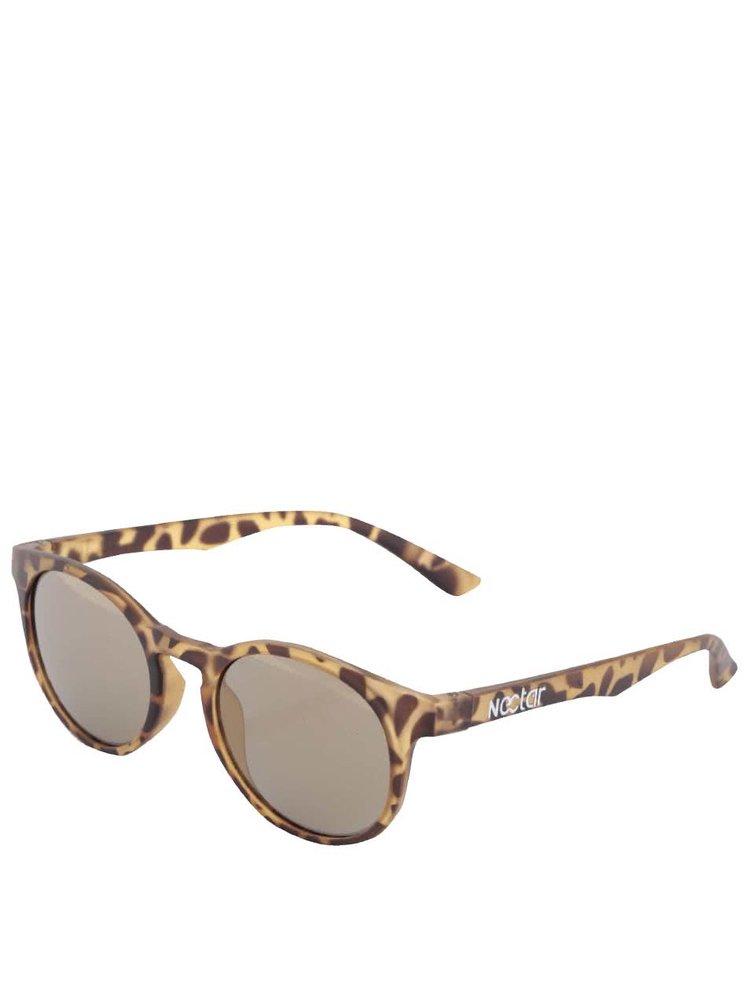 Hnědé unisex želvovinové sluneční brýle Nectar IPA