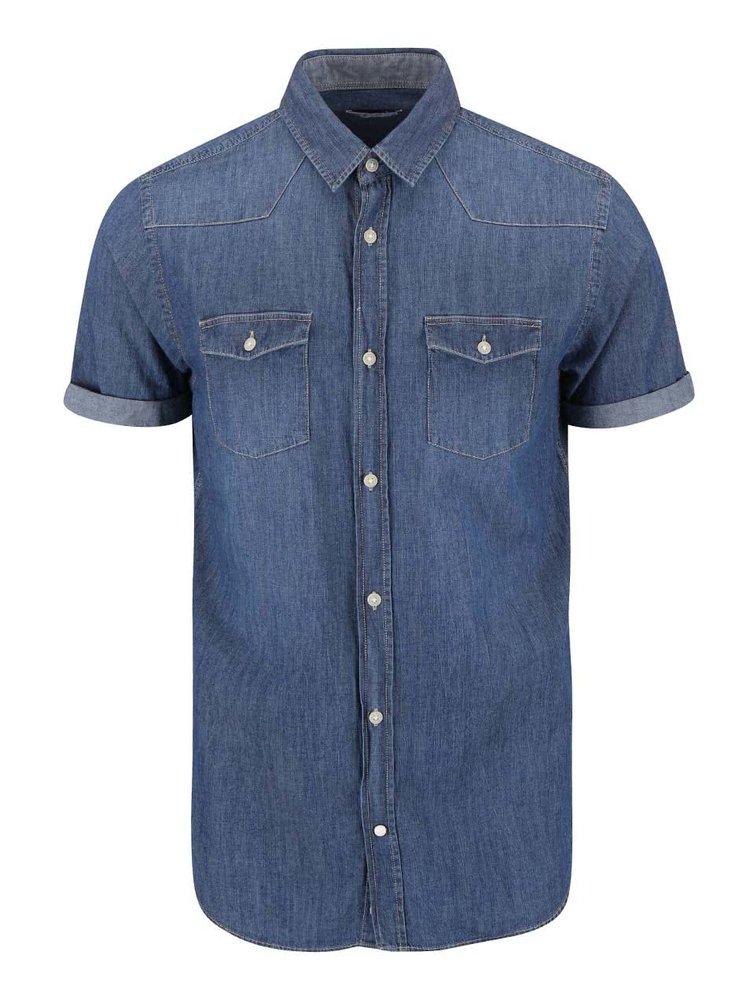 Tmavomodrá rifľová košeľa Jack & Jones Retro