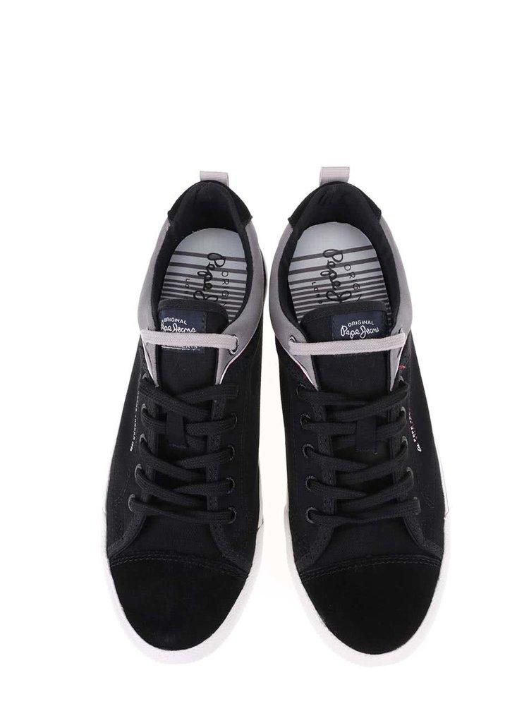 Černé pánské tenisky Pepe Jeans Britt