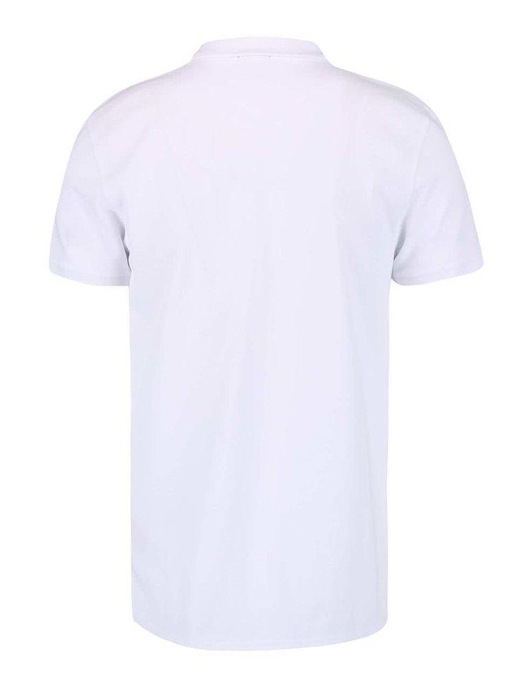 Bílé polo triko se zipem Jack & Jones Zup