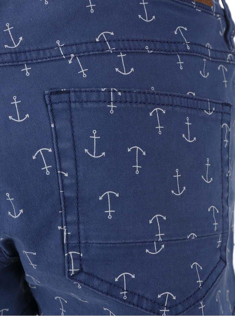 Modré dámské šortky s potiskem O'Neill Island