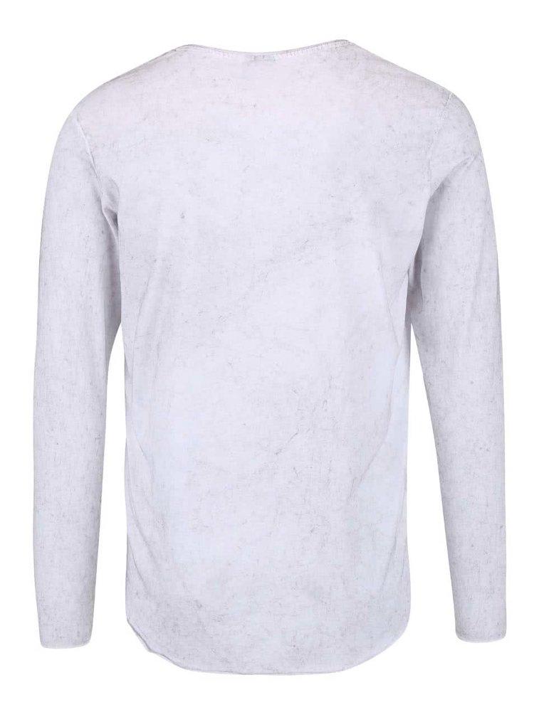 Bílé volnější triko se sepraným efektem Jack & Jones Jordaim