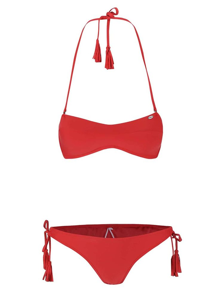 Costum de baie O'Neill Solid Bandeau rosu
