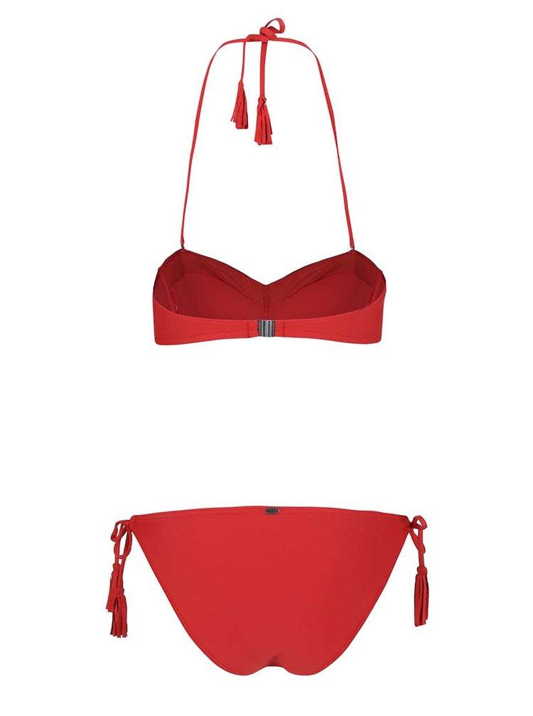 Costum de baie O'Neill Solid Bandeau roșu