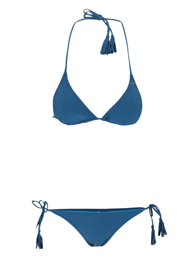 Costum de baie O'Neill Solid Triangle albastru
