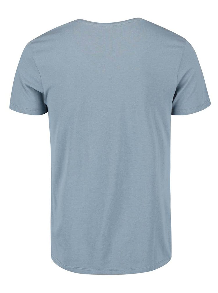 Světle modré triko s potiskem Jack & Jones Cup Tee