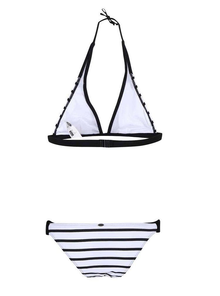 Costum de baie O'Neill Base alb/negru cu dungi