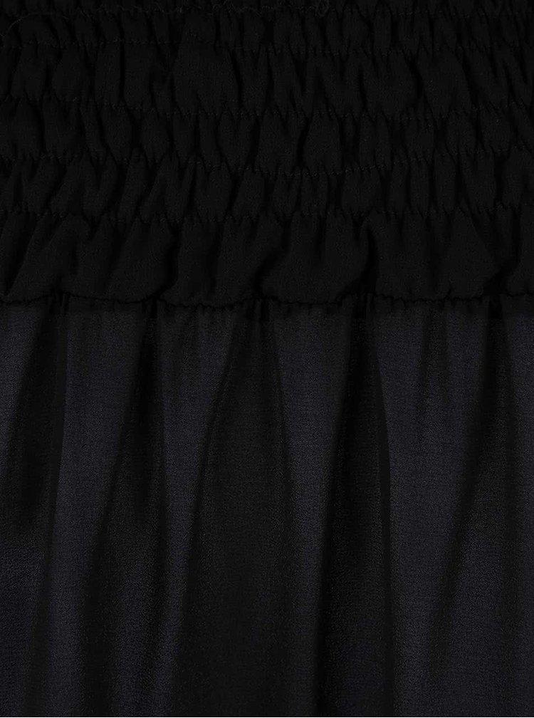 Černá blůza s krajkou Alchymi Agate