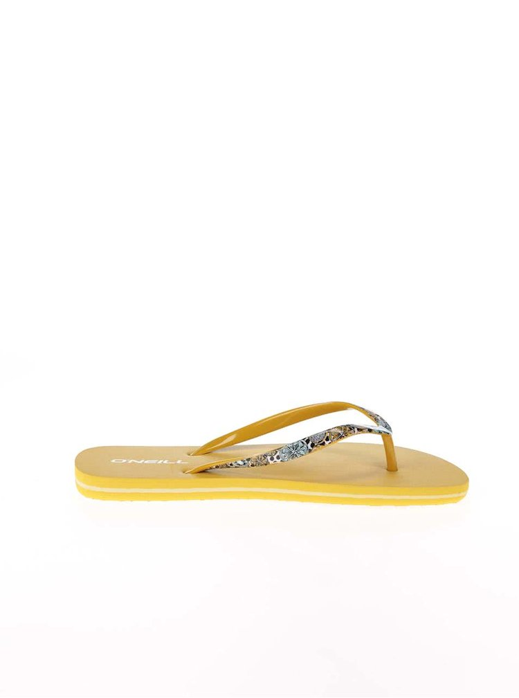 Žluté dámské žabky O'Neill Moya Strap