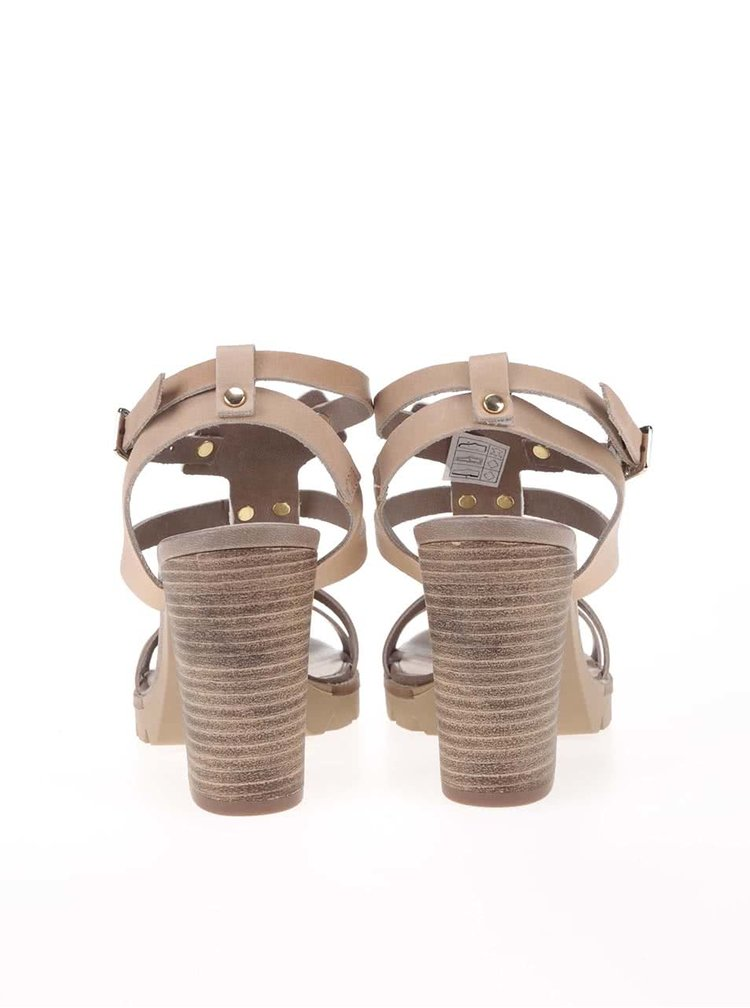 Dámské sandály na podpatku v barvě zlaté Bullboxer