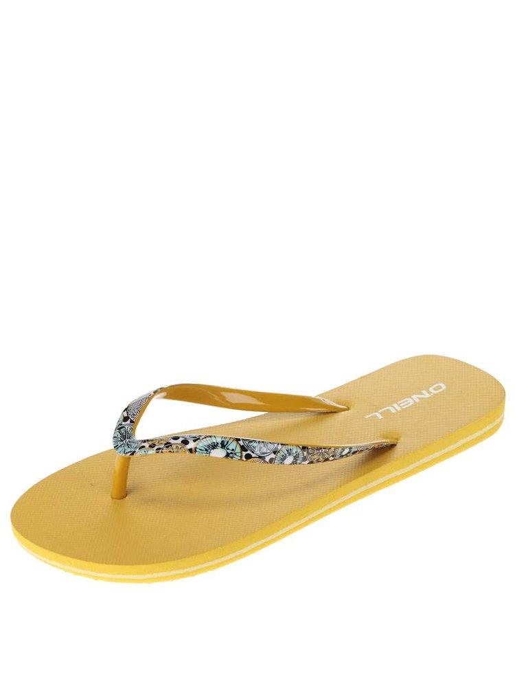 Žlté dámske žabky O'Neill Moya Strap