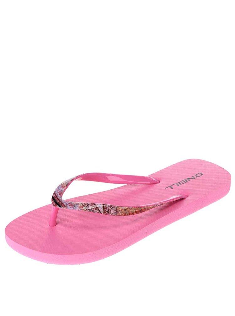 Neonově růžové dámské žabky O'Neill Moya Strap