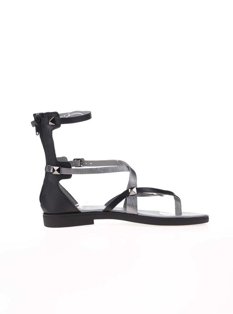 Čierne sandálky s pevnou pätou Bullboxer