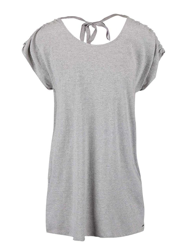 Svetlosivé dlhšie tričko Roxy Landfall